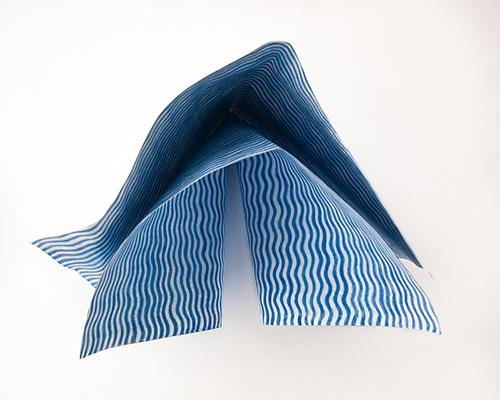 Blaues Staubtuch