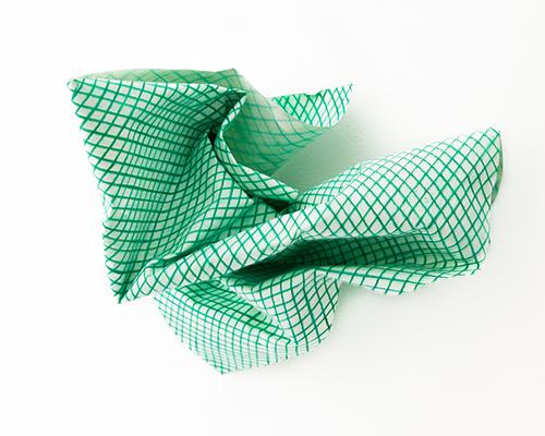 Kleines grünes Staubtuch